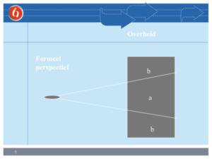 schematische weergave van het beperkende formele perspectief van de overheid